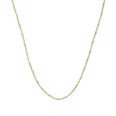 Ketting little chain turquoise