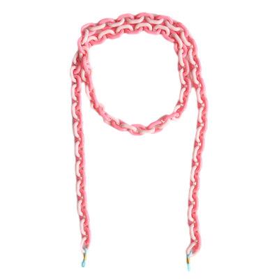 Zonnebrilkoordje pink chain