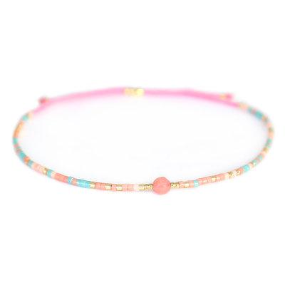 Miyuki armband roze