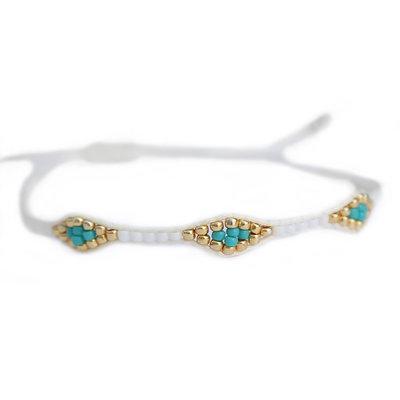 Armband miyuki Ibiza white