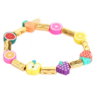 Armband tutti frutti gold