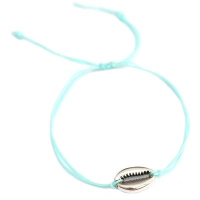 Armband blue silver shell