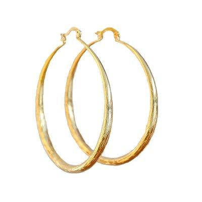 Oorbel bamboo hoops gold