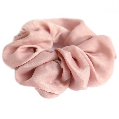 Scrunchie zijde rose