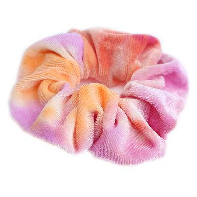 Velvet scrunchie tie dye sun