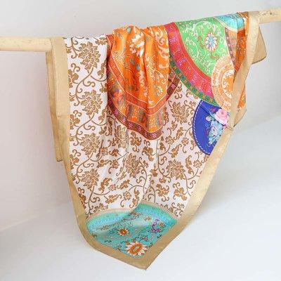 Satijnen bandana sjaal barok sun