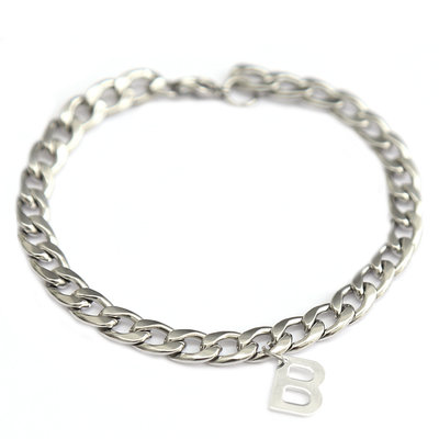 Armband chain initial silver