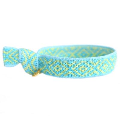 Geweven armbandje Mexican blue