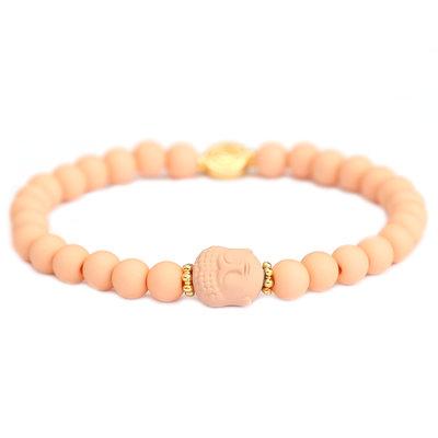 Armband buddha peach