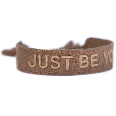 Geweven armband just be you taupe