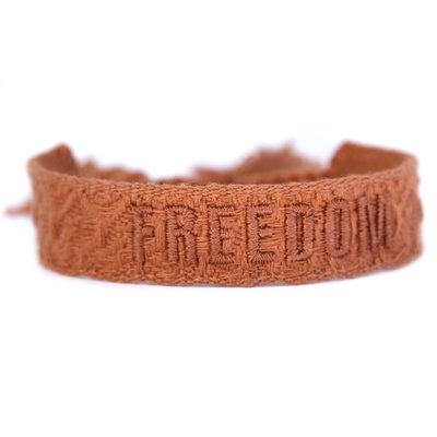 Geweven armband freedom copper