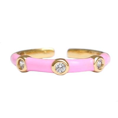 Ring Monaco pink