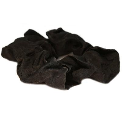 Scrunchie zijde zwart