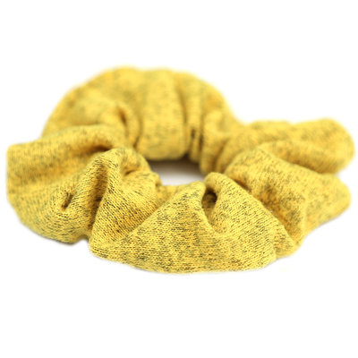 Scrunchie knitted yellow melee