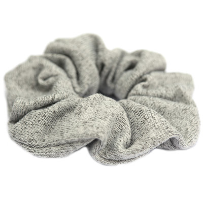 Scrunchie knitted grey melee
