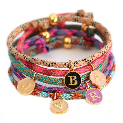 Initiaal armband - custom kleur keuze