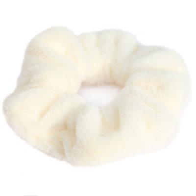 Scrunchie teddy creme