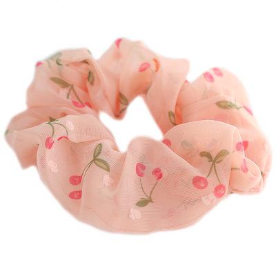 Scrunchie cherry peach