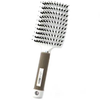 Anti-klit haarborstel white