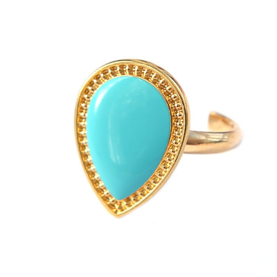 Ring versailles turquoise gold