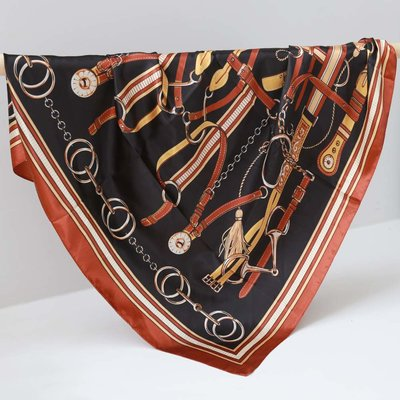 Satijnen bandana sjaal chain copper