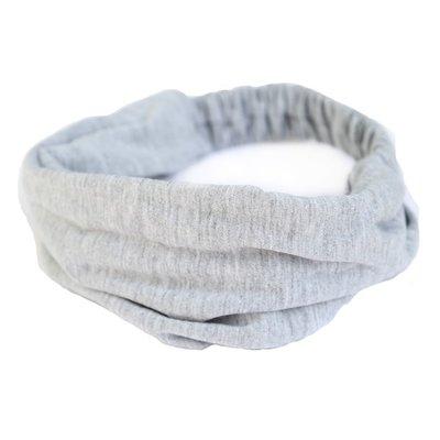 Haarband jersey grijs