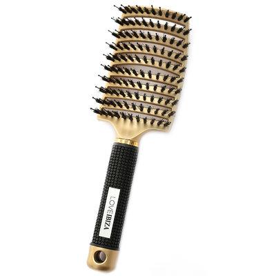 Anti-klit haarborstel goud