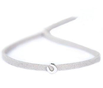 Bracelet for good luck light grey
