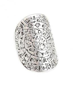 Ring hieroglief silver