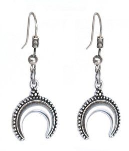 Earrings bull silver