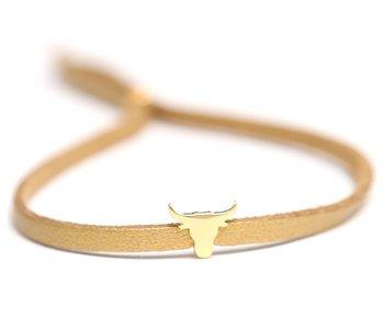 Buffalo bracelet gold