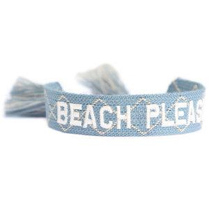 Beach please woven bracelet