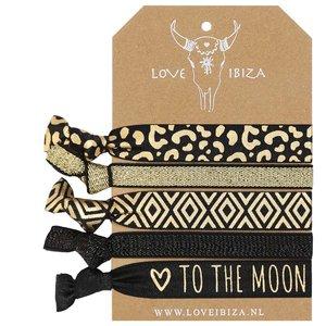 Gold leopard Ibiza hairties
