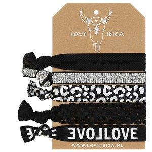 Silver leopard Ibiza elastiekjes