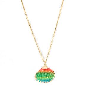 Ketting shell rainbow Love Ibiza