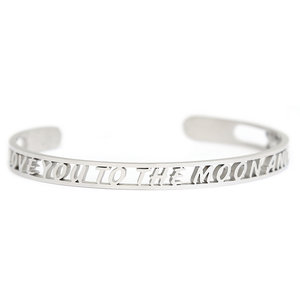 I love you to the moon and back roestvrij stalen armband