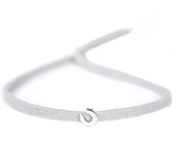 Bracelet for good luck light grey