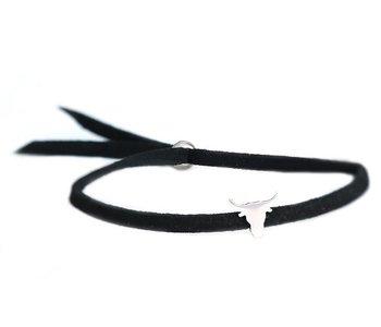 Buffalo bracelet black silver