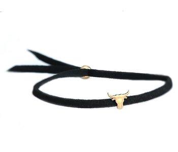 Buffalo bracelet bronze black