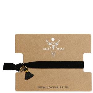 Velvet armbandje - Black