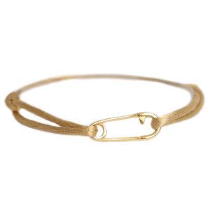 Safety pin bracelet gold