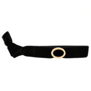 Velvet bracelet black gold
