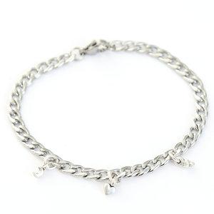 Moon heart star armband silver