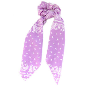 Scrunchie scarf paisley lila