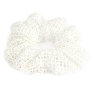 Scrunchie mesh white