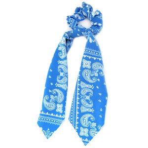 Scrunchie scarf paisley blue