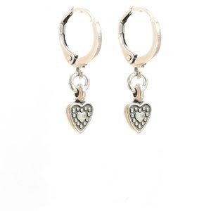 Earrings heart silver