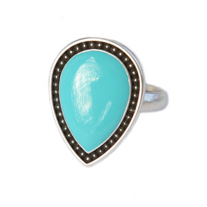 Ring Versailles silver turquoise