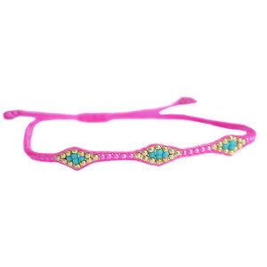 Miyuki armband hot pink