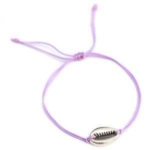 Armband lilac silver shell